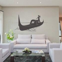 Adhésif mural bateau