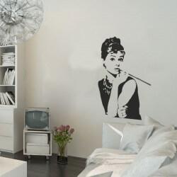 Sticker mural Audrey Hepburn