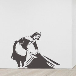Sticker Banksy maid