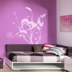 Adhésif mural papillon 5