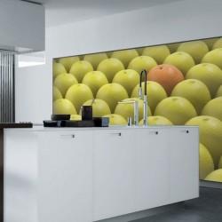 Déco murale orange et citrons