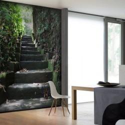 Papier peint escaliers