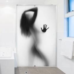 Sticker femme sous la douche
