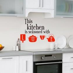 Sticker this kitchen, Love