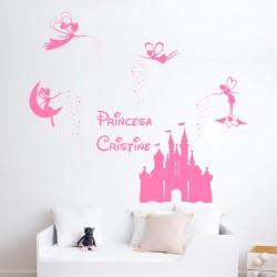 Sticker château féerique