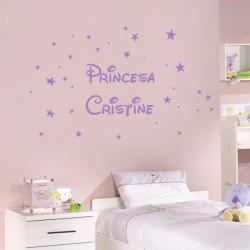Sticker stars et nom...