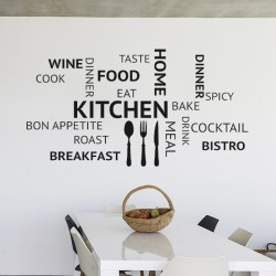 Autocollant phrases de cuisine