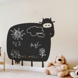 Sticker vache en ardoise
