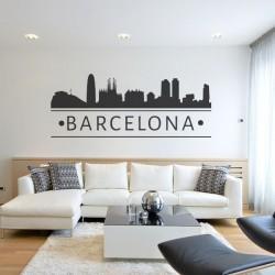 Autocollant skyline Barcelona