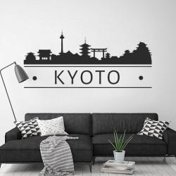 Autocollant skyline Kyoto