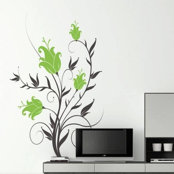 Sticker de fleurs lys