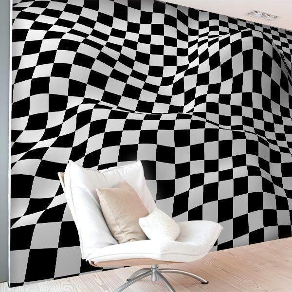 Adhésif mural carrés 3D