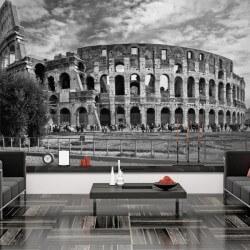 Mural Colisée Rome noir et...