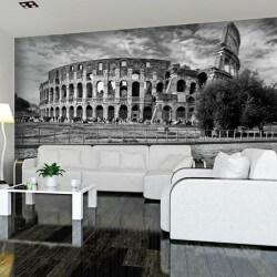 Mural Colisée Rome noir et blanc