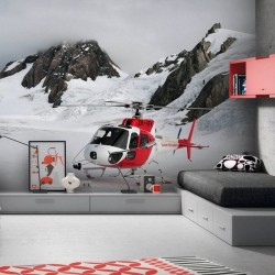 Adhésif mural hélicoptère