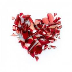 Papier peint coeur de verre