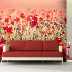Adhésif mural champ des fleurs