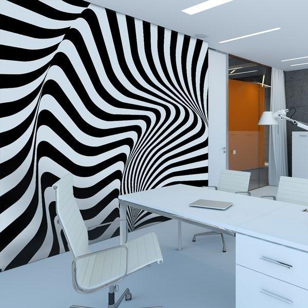 Adhésif mural rayures 3D