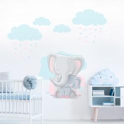 Sticker éléphants enfants