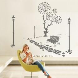 Adhésif mural jardin