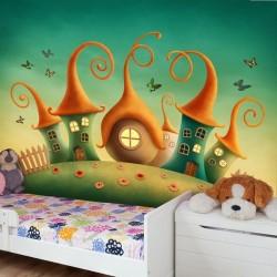Papier peint maison des gnomes