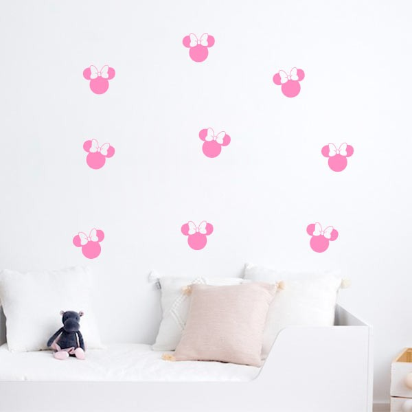 Stickers silhouettes Minnie Mouse