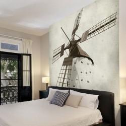 Papier peint moulin vintage