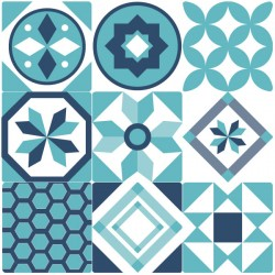 Sticker carrelage du portugal bleu