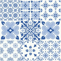 Sticker carrelage du portugal bleu 1
