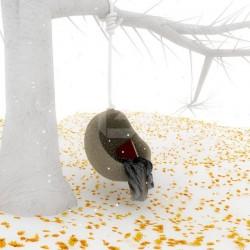 Adhésif mural arbre blanc