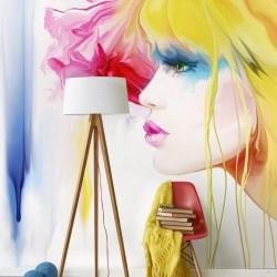 Déco murale illustration femme