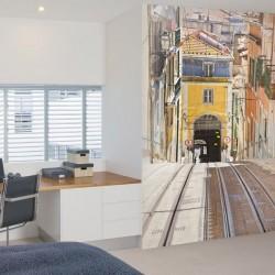 Déco murale tram de Lisbonne