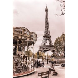 Adhésif mural carrousel à Paris