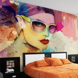 Déco murale peinture colorée