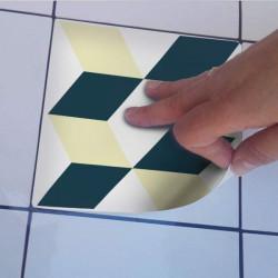Sticker carrelage du portugal jaune