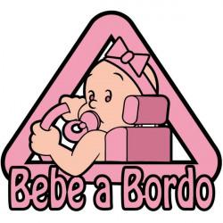 Sticker bébé fille à bord