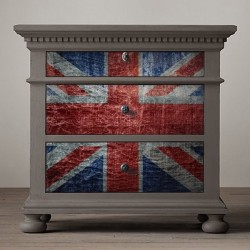 Sticker meuble drapeau du...
