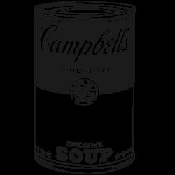 Sticker pop art Campbell s soup
