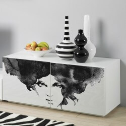 Sticker meuble femme aquarelle