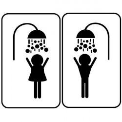 Sticker signalétique douche