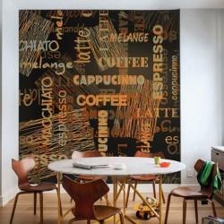 Papier peint café langues