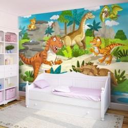 Revêtement mural dinosaures