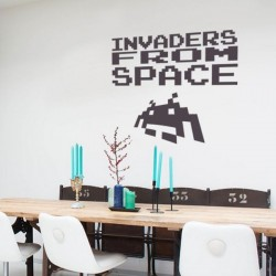 Sticker invaders from space
