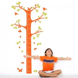 Sticker enfant arbre mètre