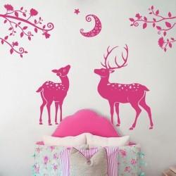 Sticker mural gazelles