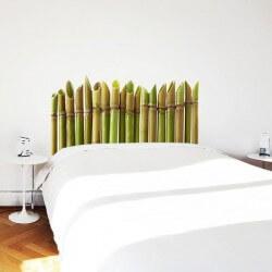 Sticker tête de lit bambou