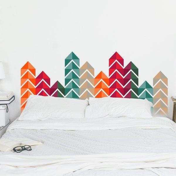 Sticker tête de lit triangles