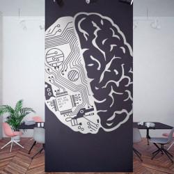 Stickers cerveau robot et humain