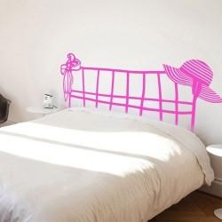 Sticker tête de lit femme
