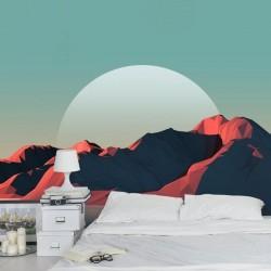 Adhésif mural montagnes 3D